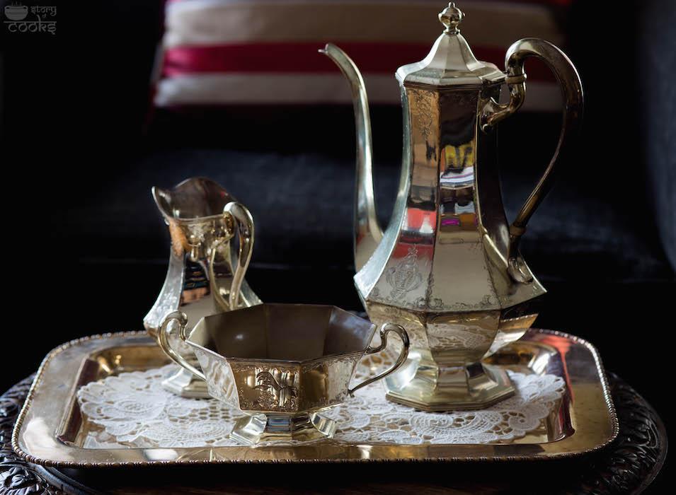 vintage silver teaset