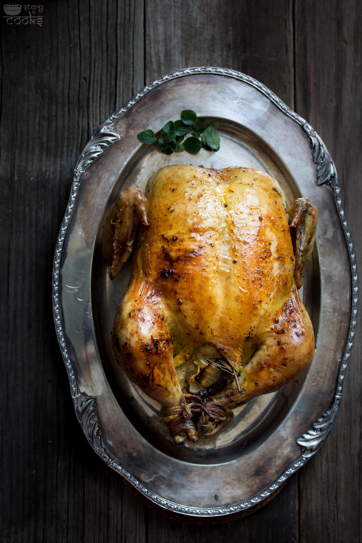 Whole Chicken Roast Gravy Oaxacan Stuffing Story Of